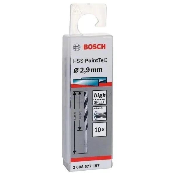 Свредло HSS за метал PoinTec 2.9 mm на Bosch комплект 10 бр.