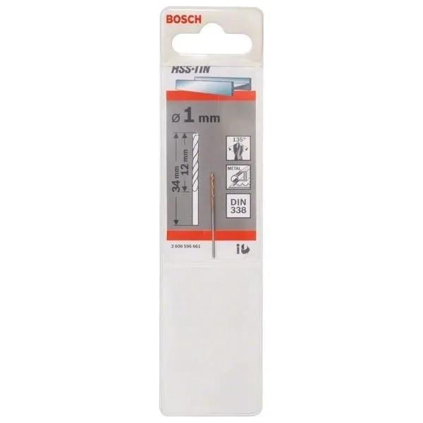 Свредлo HSS-TiN за метал на Bosch 1.0 mm