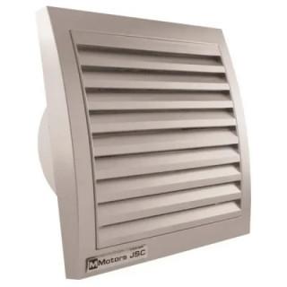 Вентилатор за стенен монтаж MMotors, ф100 мм, 105 m3/h, MM 100, инокс