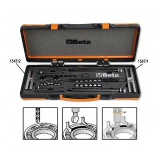 Комплект екстрактори (2 бр) с фалшиви съчми (6 бр) за изваждане на лагери в метална кутия Beta Tools 1547 /C6