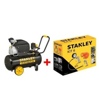 Компресор STANLEY D211/8/50S 50 л. + 9045717STN Stanley /6 части за компресор/