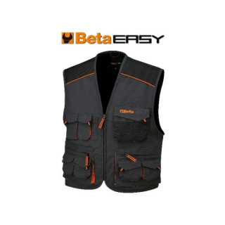 Работен елек от брезентов плат, 7907E - М размер, Beta Tools