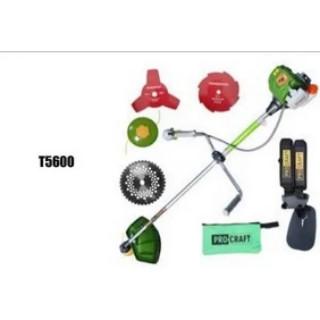 Бензинов тример Procraft T5600 1000 W, 37,7 куб/см  с три ножа