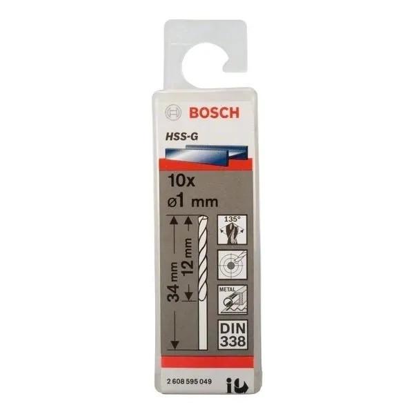 Свредло HSS-G за метал на Bosch 1.0 mm комплект 10 броя