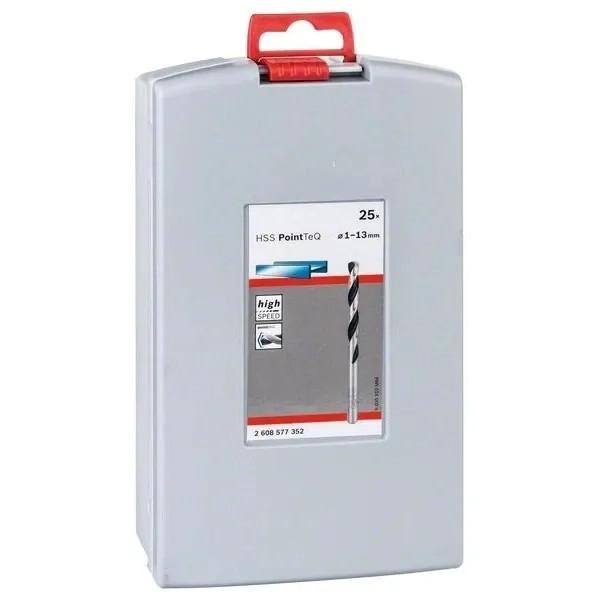 Комплект свредла Bosch HSS PoinTec 25 броя ProBox